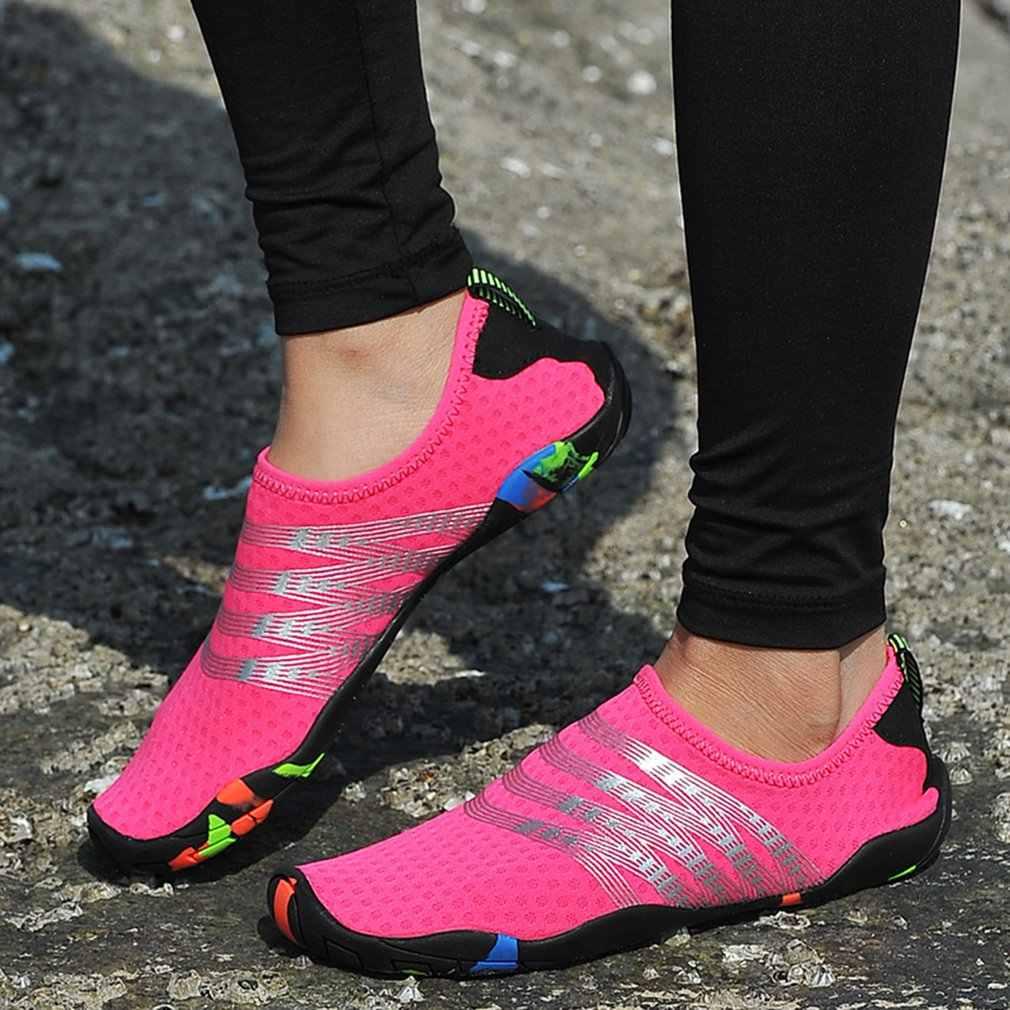 Snel Droog Aqua Water Schoenen Voor Mannen Vrouwen Ouder-Kinderen Barefoot Strand Schoenen Licht Sport Duiken Strand Surfen Schoenen