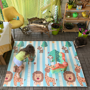 Miamumi Portable Baby Play Mat XPE Foam Double Sided Playmat Home Game Puzzle Blanket Folding Mat for Infants Kids' Carpet Rug(China)