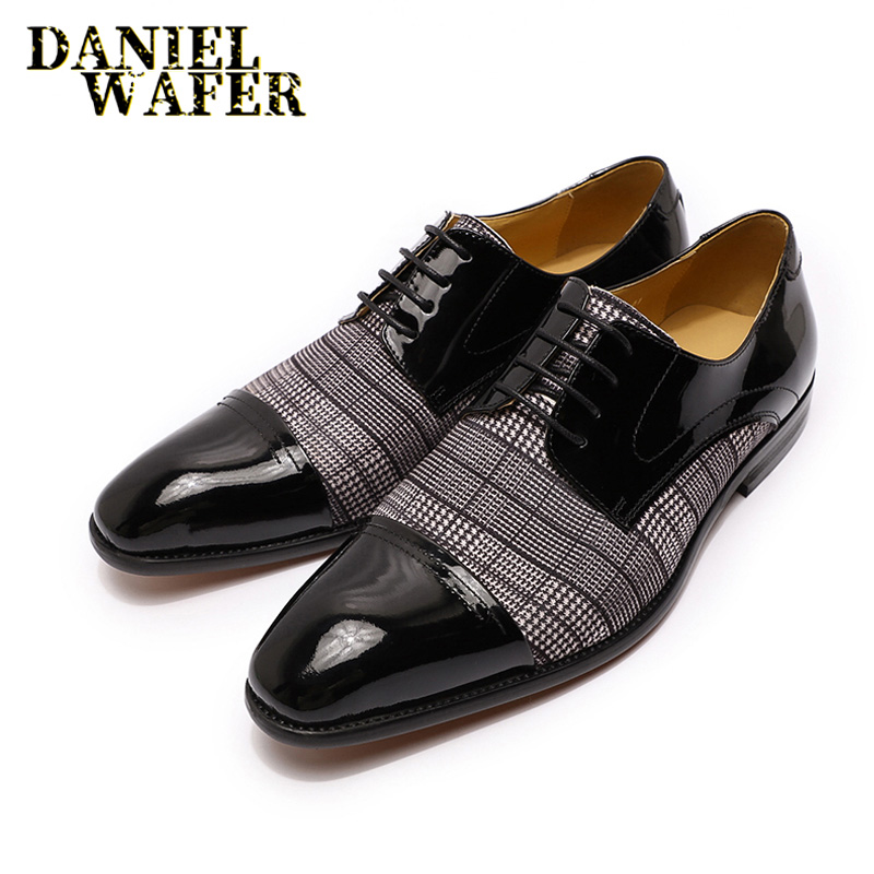 2020 CLASSIC STYLE MEN LEATHER SHOES COFFEE BLACK LACE UP POINTED CAP TOE FORMAL SHOES OFFICE WEDDING DRESS MEN OXFORD SHOES