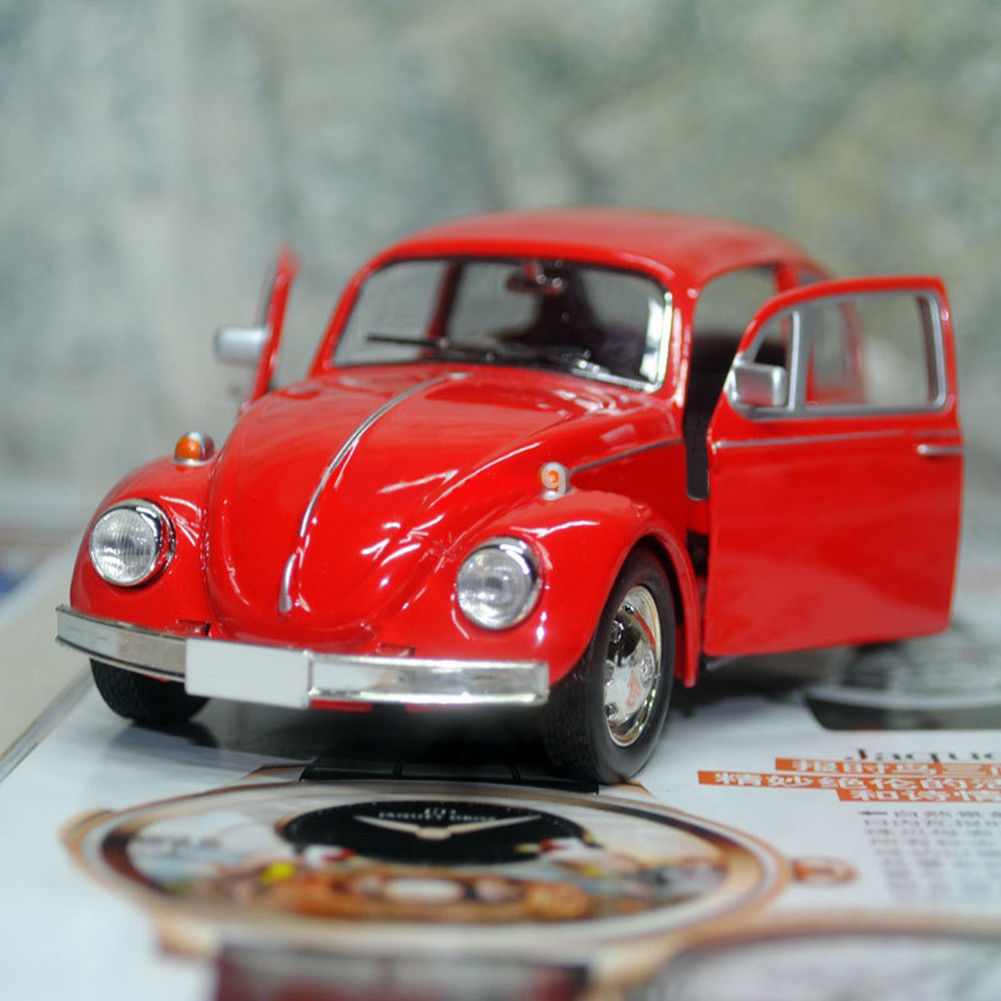 Flexible Car Model Toy Alloy Rubber Vintage Beetle Diecast Pull Back Car Model Toy For Children Gift Decor Cute