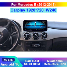Qualcomm Android 10 Auto Sistema di Comando Dello Schermo di Visualizzazione Stereo Per Benz Classe B W246 2012 2018 IPS 4G LTE Wifi BT Lettore W246
