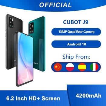 Cubot J9 Smartphone 6,2 pulgadas 4200mAh 13MP Triple Cámara Google Android ir tarjeta SIM Dual teléfono 2GB RAM + 16GB ROM 3G banda