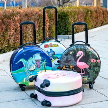 Luggage travel suitcase on wheels,kids cartoon trolley luggage case,rounded cute rolling luggage bag,18 inch children's gift