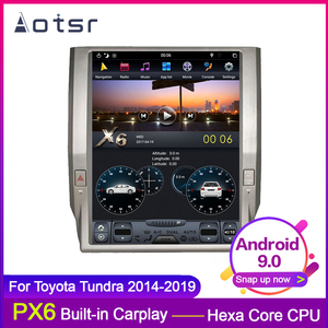 AOTSR PX6 Android 9.0 Tesla style HD screen Car GPS Navigation For Toyota Tundra 2014-2019 WIFI Multimedia Player SWC Carplay(China)