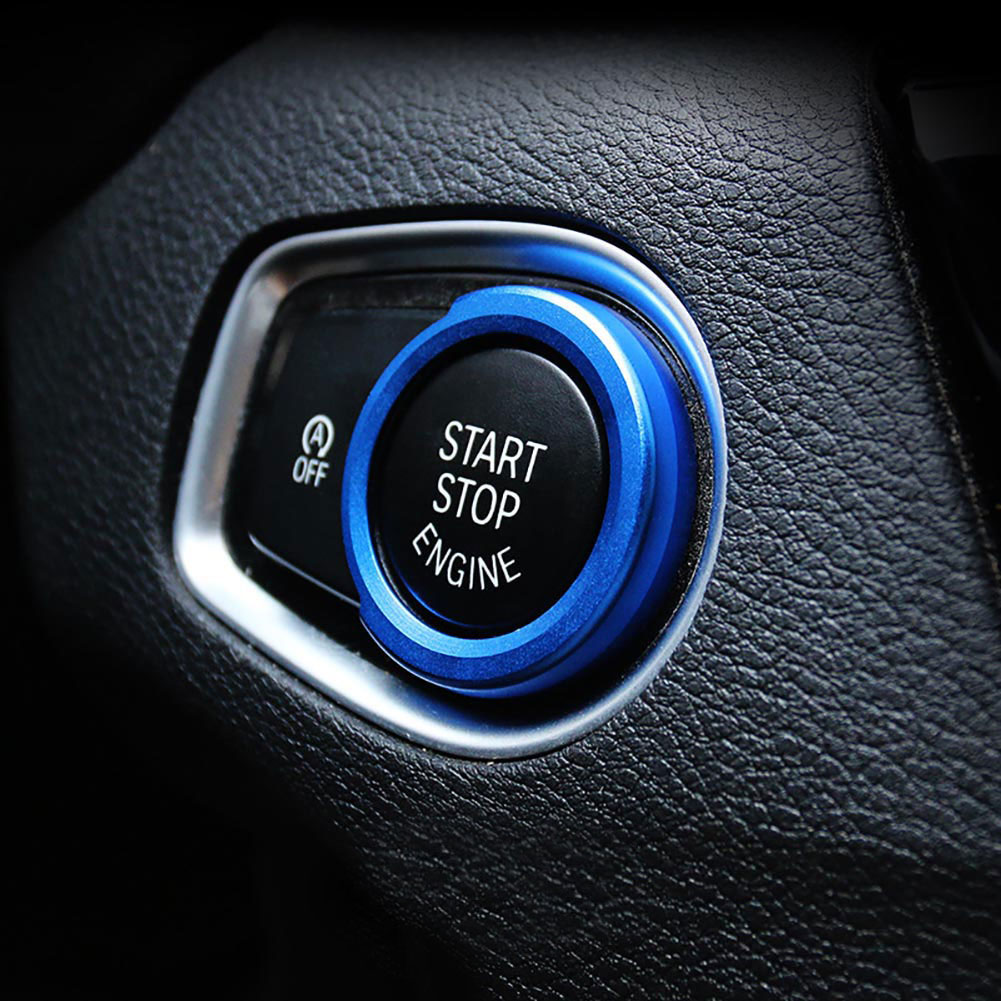 1Pcs Sliver Aluminum Alloy Car Button Start Ring Decor For New X1 1 2 3 4 Series