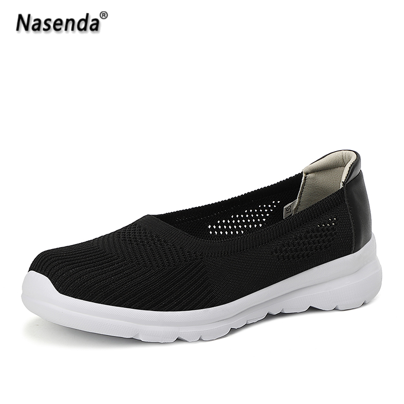 Home Women Shoes Summer Casual Female Shoes Flat Bottom Slip on Walking Shoes Foe Woman Fashion Flats Walking Shoes Hot Sale