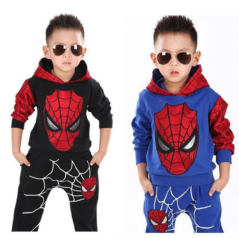2019 Autumn Winter Children Clothing Toddler Boys Clothes Sets Spiderman Costume Kids Clothes For Boys Clothing Suit 2 6 8 Years