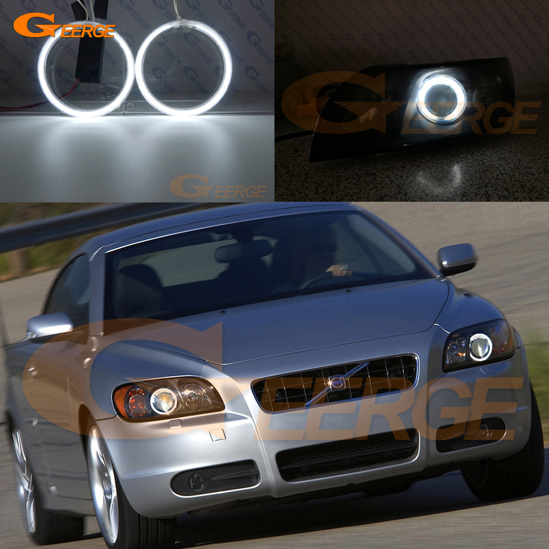 For Volvo C70 II 2006 2007 2008 2009 Pre Facelift Excellent CCFL Angel Eyes Kit Halo Ring Ultra Bright Illumination