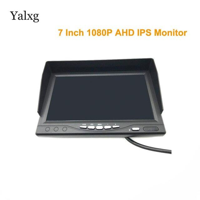 Full HD 1024*600 7 นิ้วกล้องวงจรปิดความปลอดภัยภายในบ้าน 1080P AHD 2 แยกหน้าจอ IPS Monitor DVR การเฝ้าระวังรถ IPS จอแสดงผล Recorder