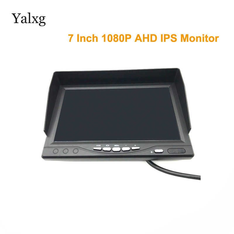 Full HD Mini 1024*600 7 Inchs CCTV Home Security 1080P AHD 2- Split Screen IPS Monitor DVR Car Surveillance IPS Display Recorder