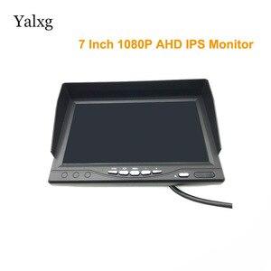 Image 1 - Full HD Mini 1024*600 7 inç CCTV ev güvenlik 1080P AHD 2 bölünmüş ekran IPS monitör DVR araba gözetim IPS ekran kaydedici