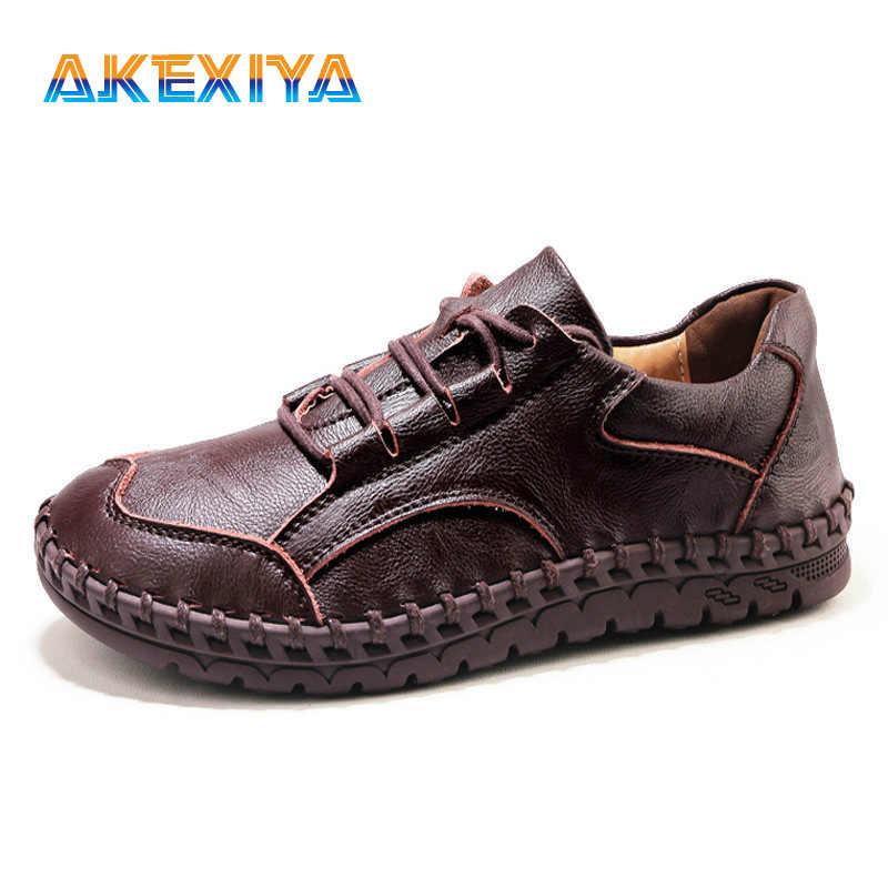 Классические удобные мужские кожаные повседневные туфли; мужские лоферы; мокасины; прогулочная обувь; Туфли-оксфорды на плоской подошве; дышащая мужская обувь; размер 46 47