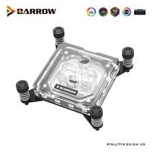 Barrow-bloque de agua de CPU para procesador de plataforma INTEL X99 X299, Enfriador de agua para plataforma LGA 2011 2066, LTYK3X-04 V2