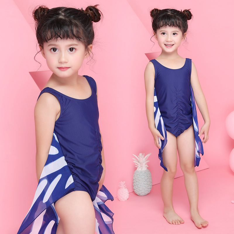 2018 Xiqi New Style KID'S Swimwear GIRL'S One-piece Swimming Suit Cute Butterfly Baby Swim Bathing Suit Manufacturers Direct Sel