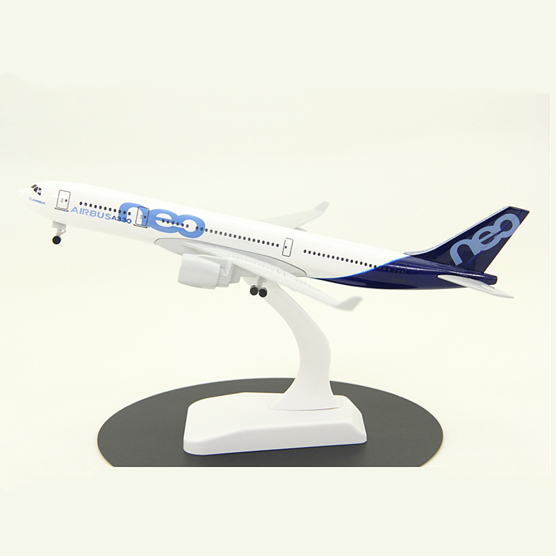 20CM 1:150 Scale Airplanes Airbus A330 NEO Aircraft Model Prototype With landing gear Plane Model Alloy Diecast Toys Gifts