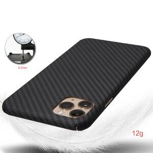 Image 5 - Kevlarจริงคาร์บอนไฟเบอร์โทรศัพท์กรณีแฟชั่นสำหรับIphone 11 Pro Max Ultra Thin Anti Fall HardธุรกิจCase 11 X Shell