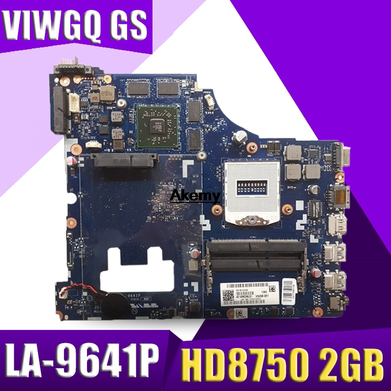 VIWGQ GS LA-9641P G510 Laptop Motherboard For Lenovo G510 Motherboard With ATI Radeon R5 M230 / HD8750 2GB GPU Tested 100% Work
