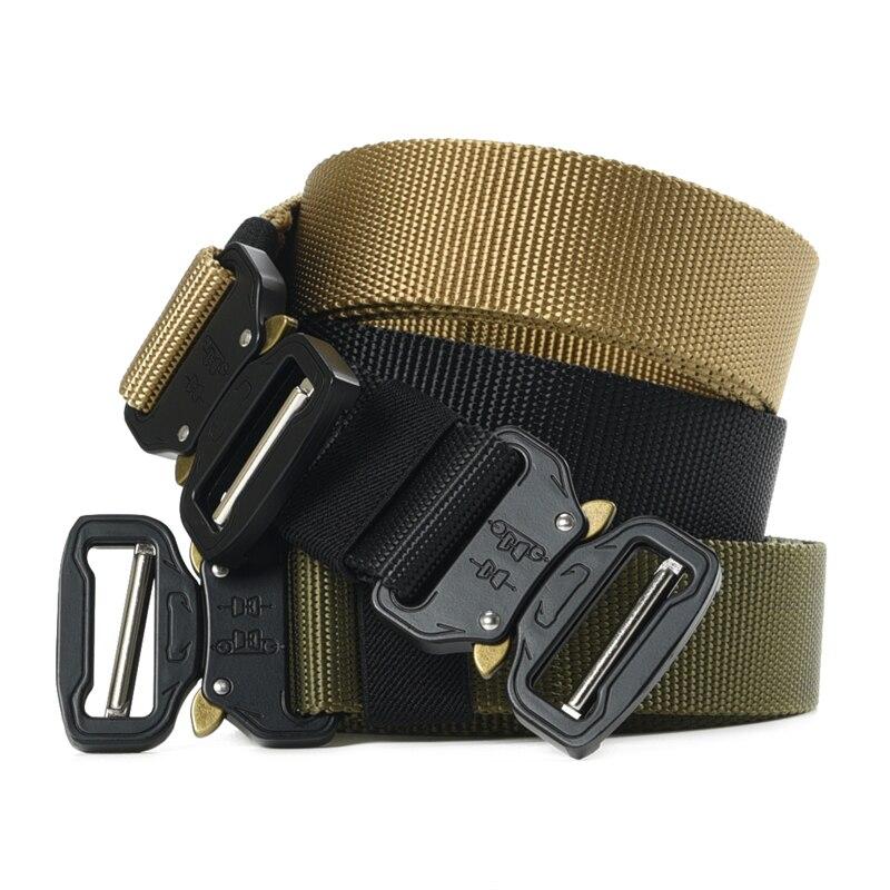 Mens Military Belt Tactical Equipment outdoor training adjustable heavy duty Quick-releasing Male Belt