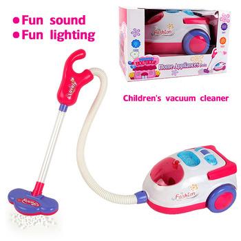 Symulacja dzieci z odkurzaczem narzędzie do czyszczenia domek do zabawy dla dziewczynki zabawki urządzenia higieniczne środki czyszczące meble zagraj w prezenty edukacyjne tanie i dobre opinie none Housekeeping Toys 8 ~ 13 Lat 2-4 lat 5-7 lat Sport