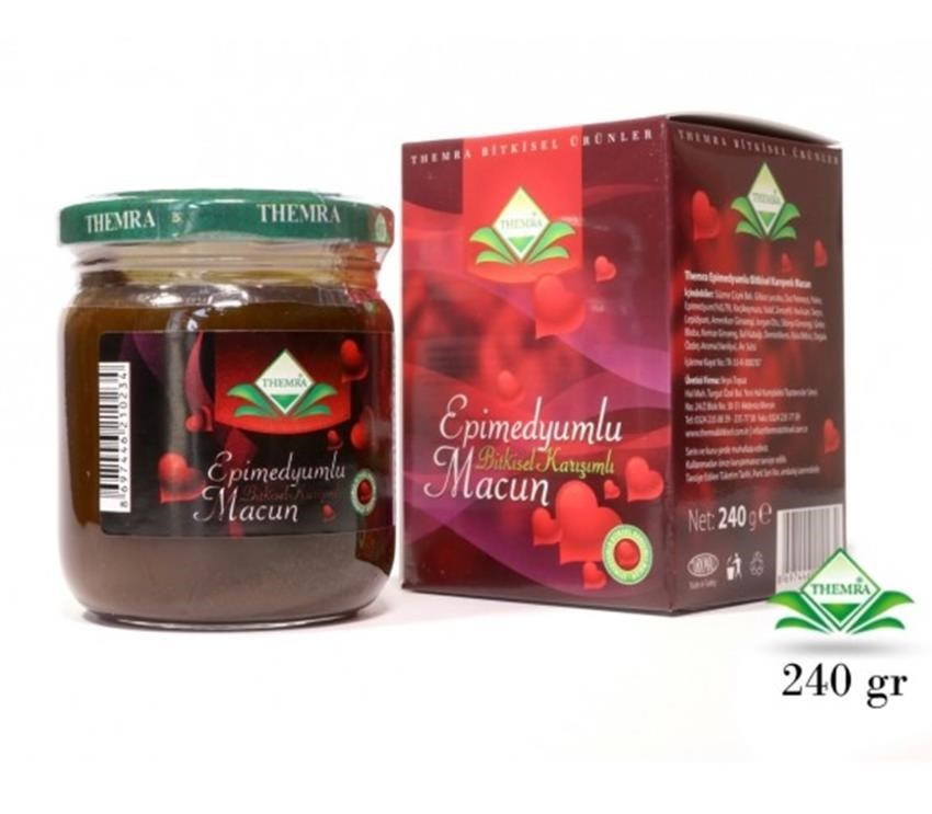 Themra Natural Turkey Epimedium Herbal Paste Red Ginseng Horny Goat Aphrodisiac Supplement Herbal Medicine Health Sex Product