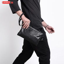 Soft Leather Men's Bag Business Casual Men Leather Clutch Bag Fashion Large-capacity Clutches Bag Male Wallets Mobile Phone Bags