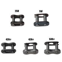 2 шт. 25 ч T8F 420 428 428H 520 530 соединительных звеньев цепей карман Dirt Pit ATV Quad Go Kart E бензоскутер в байкерском стиле
