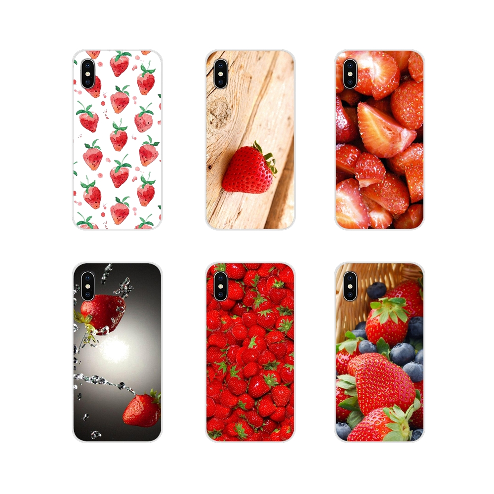 Accessories <font><b>Phone</b></font> <font><b>Cases</b></font> Covers For <font><b>Samsung</b></font> <font><b>Galaxy</b></font> J1 J2 J3 J4 <font><b>J5</b></font> J6 J7 J8 Plus 2018 Prime 2015 <font><b>2016</b></font> 2017 strawberry image