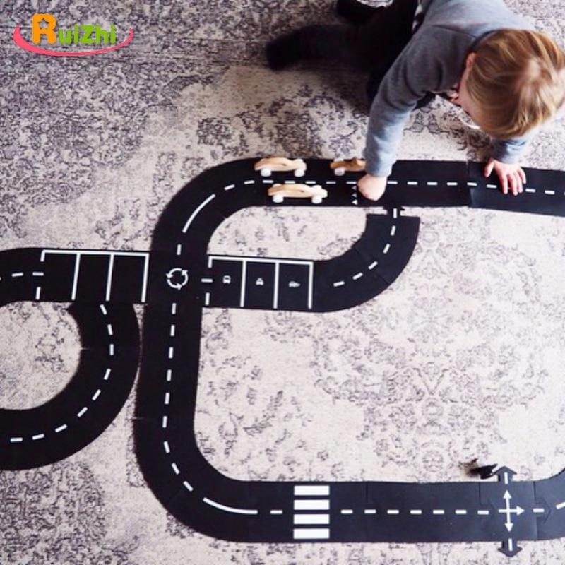 Ruizhi Children DIY Splicing Track Puzzle Highway Stitching Prop Traffic Roadway Accessories Scene Building Toy Kids Gift RZ1171