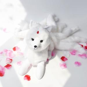 Image 1 - Super Nette Weiche Weiß Rot Neun Tails Fox Plüsch Spielzeug Kuscheltiere Neun Tailed Fox Kyuubi Kitsune Puppen Kreative geschenke für Mädchen
