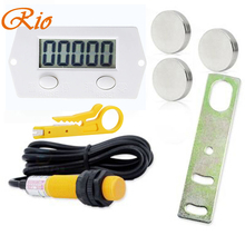 Free shipping Five Digit Digital Electronic Counter Puncher Magnetic Inductive Proximity Switch Durable Quality+Proximity switch