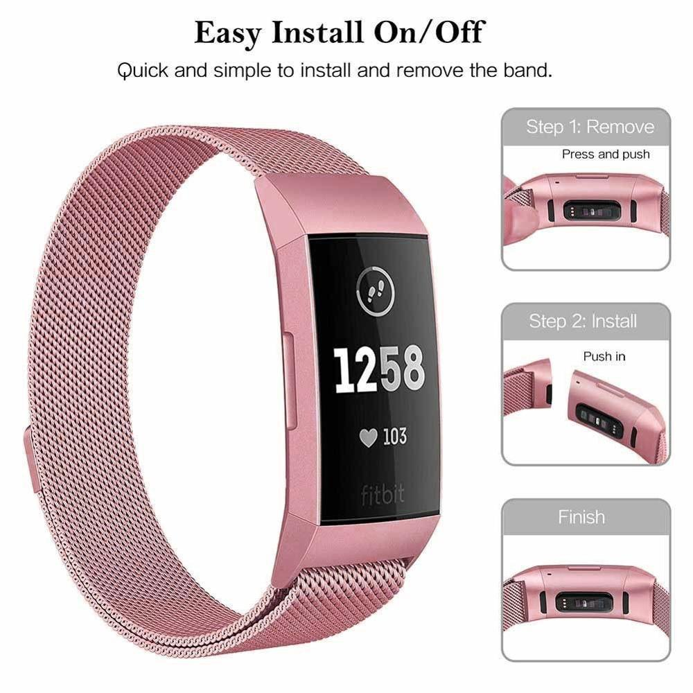 Milanese loop For fitbit charge 3 band replacement charge4 wristband stainless steel watch bracelet strap fitbit charge 4 band 2