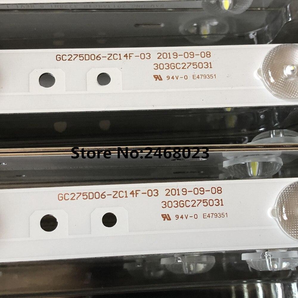 LED Backlight Strip GC275D06-ZC14F-03 303GC275031 For 28PHF2056/T3 1pcs=6leds
