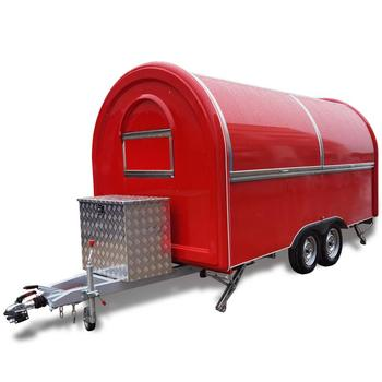 custom made food truck concession food trailer Mobile Food Truck Concession Food Trailer 400x200x240cm Red