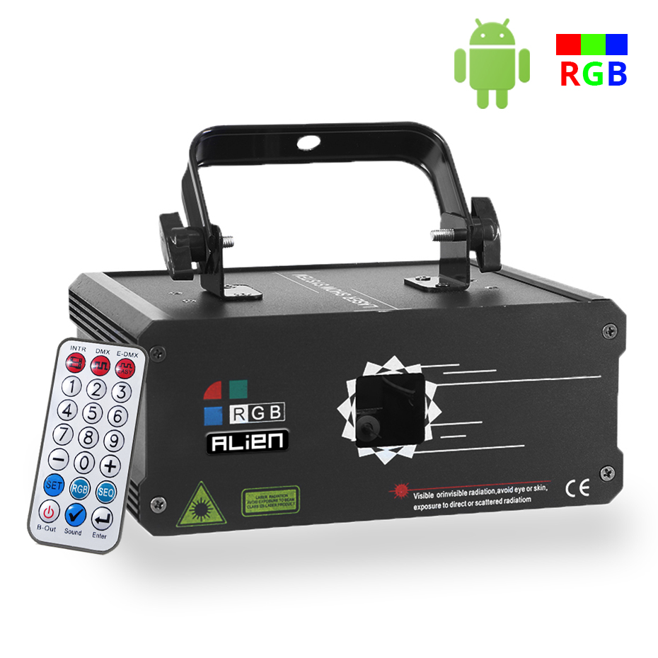 Image 2 - ALIEN RGB Bluetooth APP Remote Animation Laser Projector DMX512 Scanner DJ Disco Party Holiday 500MW 1W 2W Stage Lighting EffectStage Lighting Effect   -