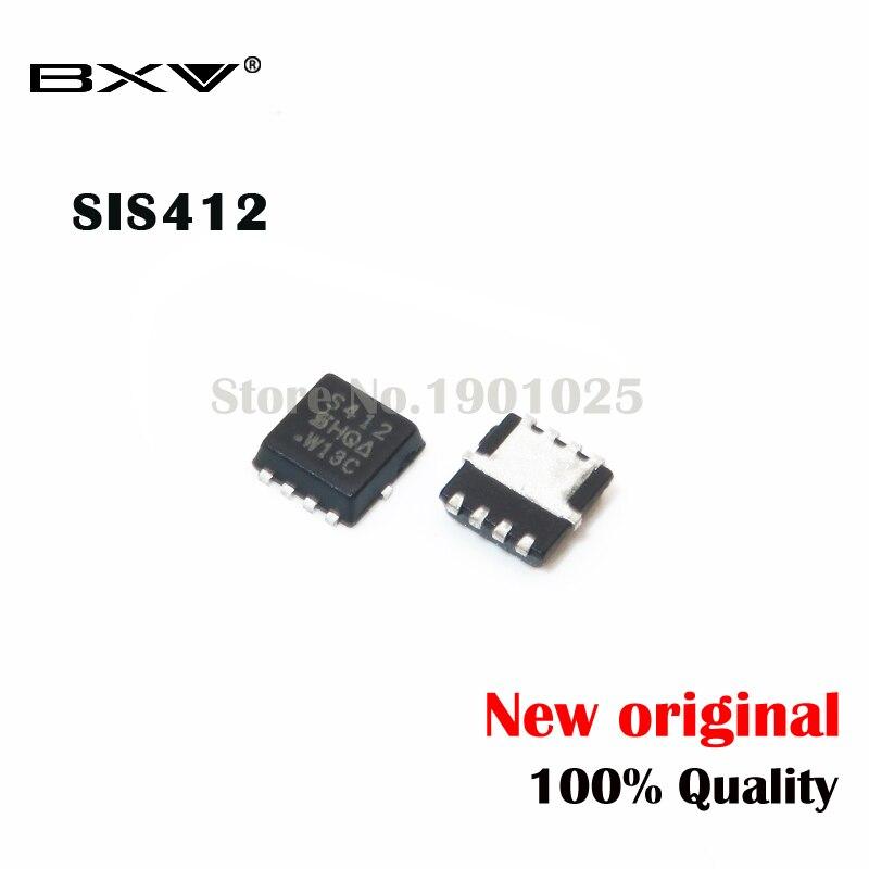 10pcs SIS412DN SIS412 S412 QFN-8 MOSFET New Original
