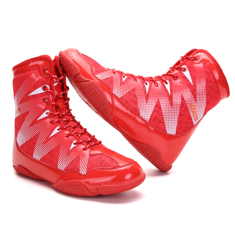 New Quality Professional Boxing Wrestling Fighting Shoes Stong Grip Anti-slip Training Boxing Wresting Squat Shoes