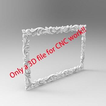 Pure Pattern Frame 3D Model STL Format Design File CNC Router Carving ArtCAM Aspire Type3 Engraving Carving File A1201