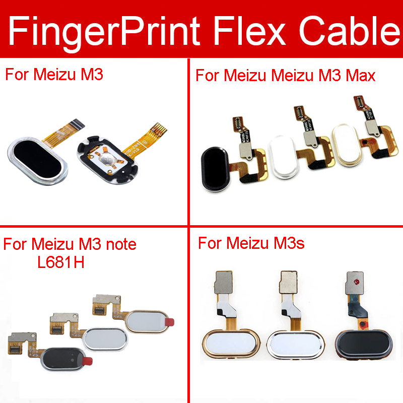Home Button Fingerprint Sensor Flex Cable For Meizu M3 M3s Max Note Menu Return Key Touch Sensor Flex Ribbon Replacement Repair