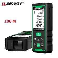 Sndway 전자 룰렛 레이저 거리 측정기 40m 50m 70m 100m 120m 레이저 거리 측정기 디지털 trena lazer 측정 거리 측정기