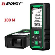 Sndway télémètre laser numérique à roulette électronique, portée 40m 50m 70m 100m 120m, outil de mesures