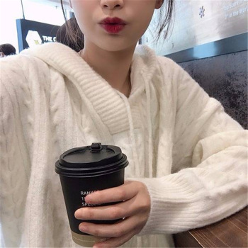 Knitwear pull korean female fashion hooded with gauze Pullovers Winter autumn Sweater Jumpers for women Knitted Pullover Sweater 2