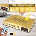 Bluetooth усилитель мощности ЖК-дисплей аудио HiFi 800 Вт 220В-240В 50Гц 5CH домашний кинотеатр FM радио Поддержка SD/USB 2 Mircophone