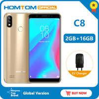 Versione originale HOMTOM C8 4G Mobile Phone 18:9 Display Full Android 8.1MT6739 Quad Core 2GB + 16GB smartphone di Impronte Digitali + Viso ID