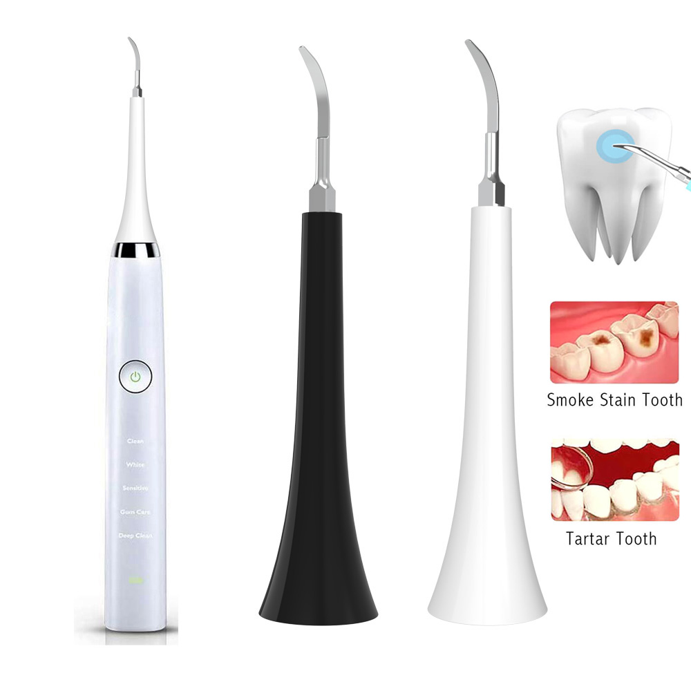 Electric Ultrasonic Sonic Dental Tooth Calculus Remover Stains Tartar For Philips Sonicare Diamond Clean Tooth Brush Heads image
