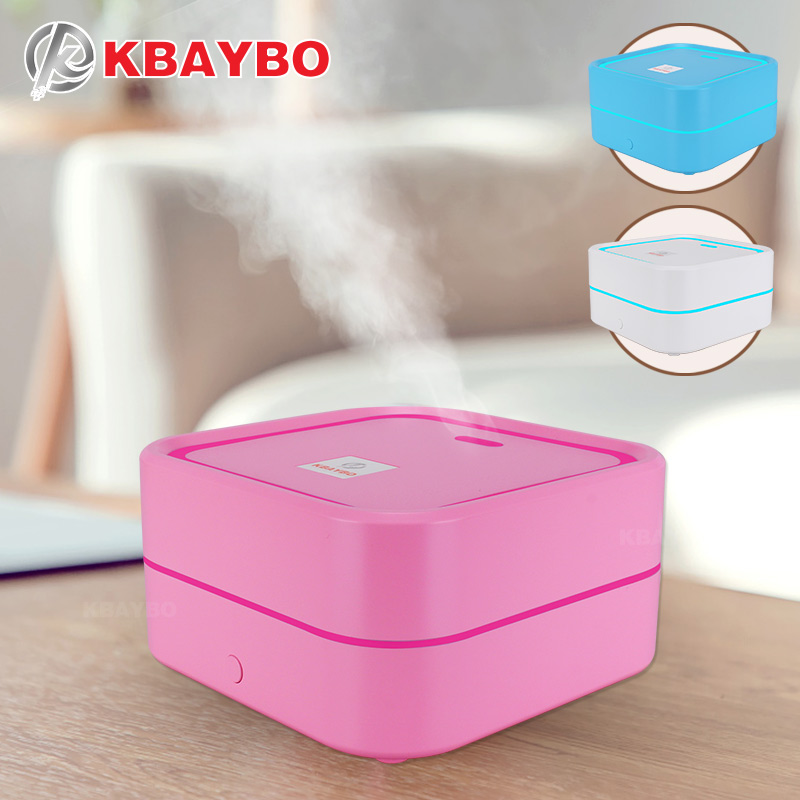 KBAYBO 100ML USB Mini Aroma Ultrasonic Humidifier Essential Oil Diffuser Aromatherapy Mist Maker  With LED Lights For Home