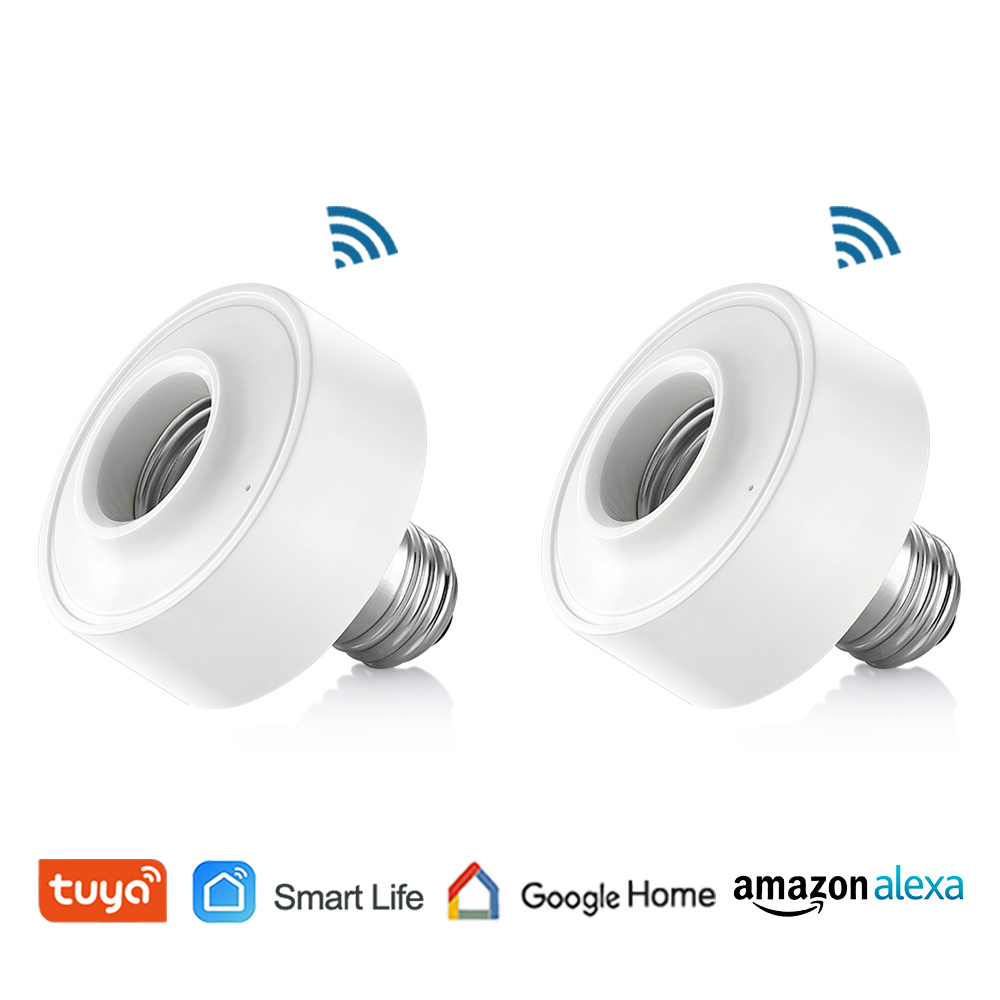 Socket-Lamp-Holder Timer-Light Led-Bulb Tuya Voice-Control-App Alexa Smart-Life Amazon Echo title=