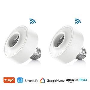 Tuya Smart Life WiFi Light Socket Lamp Holder for E26 E27 Led Bulb Google Home Amazon Echo Alexa Voice Control App Timer Light(China)