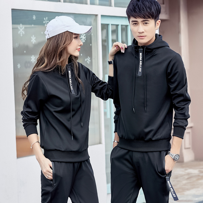 Couples Sports Set Leisure Suit Men's Large Size Men'S Wear Korean-style Women's Sports Clothing Large Size Fashion