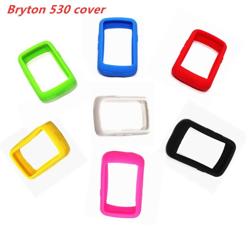 <font><b>Bryton</b></font> 530 Cover Bicycle Silicone Rubber shockproof Protect Cover Case For <font><b>Bryton</b></font> 530 <font><b>Bike</b></font> Cycling <font><b>GPS</b></font> Computer Accessories image