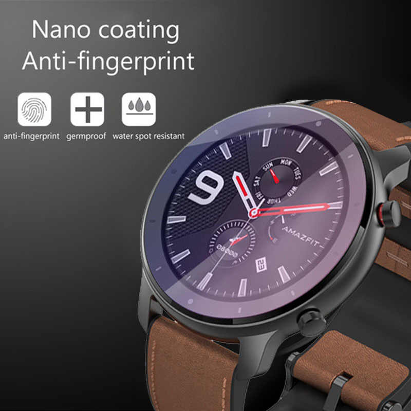 42/47mm Smart Watch Protective Accessories for AMAZFIT GTR Smart Watch Clear Film Tempered Glass Screen Protector for Watch
